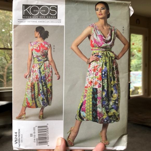 Vogue sewing pattern Koos couture V1244 14-18 EE